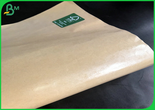 Harmless 40g PE Coated FDA Brown Kraft Paper For Fried Chicken Box