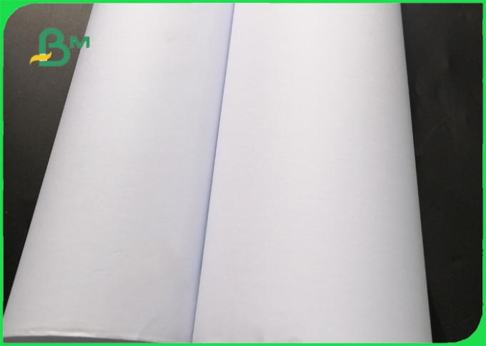 24 inch 36 inch * 50m 80gsm CAD White Plotter Paper For Garment Cutting