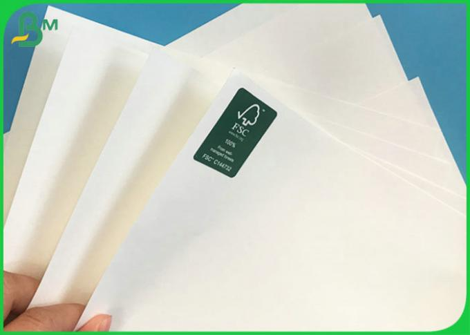 FSC Certified 40gsm to 135gsm Bleached White Kraft Coils with Food grade bags