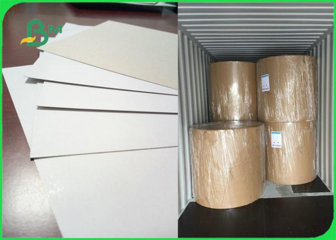 100% Recycled Coated  White With Grey Back Duplex CCNB Paper For Shoes Boxes